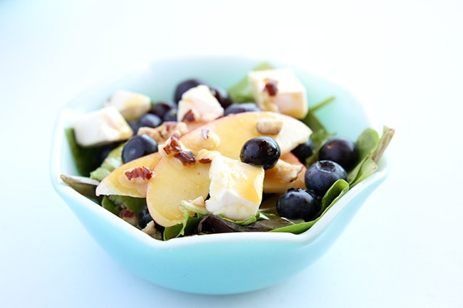 Blueberry Apple Swiss Salad with Dijon Mustard Vinaigrette