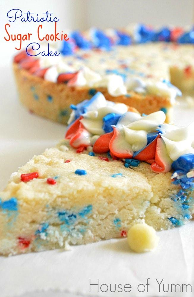 Patriotic Sugar Cookie Cake