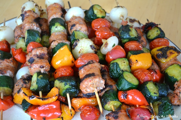 Veggie and Sausage Shish Kabobs