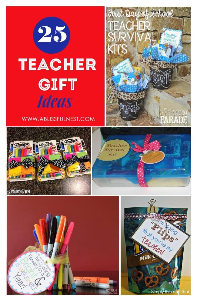 teacher gift ideas via a blissful nest