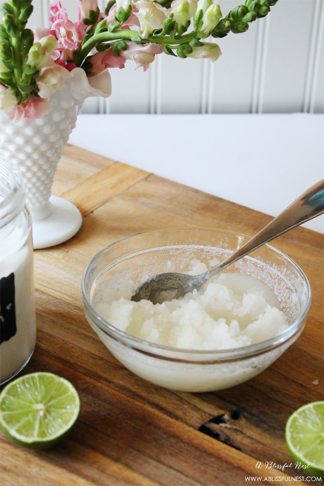 The Best Mojito Sugar Scrub by A Blissful Nest