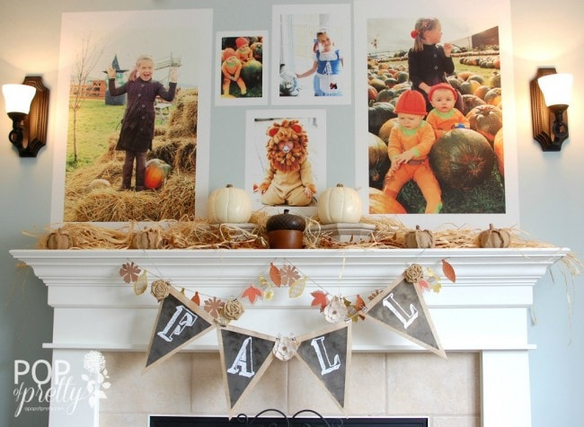 A Pop of Pretty Fall Mantel