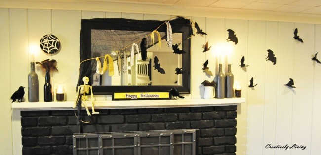 Creatively Living Halloween Mantel
