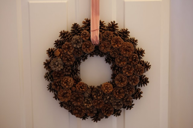 Enjoy All Life has to Offer DIY Pinecone Fall Wreath