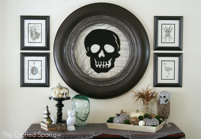 The Crafted Sparrow Halloween Mantel