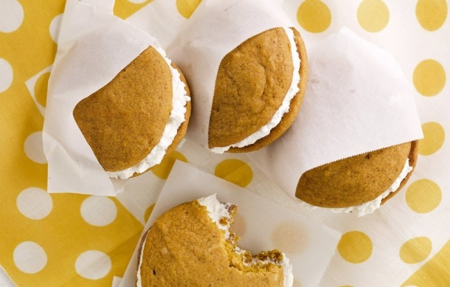 Pumpkin Woopie Pies with Maple Marshmallow Cream Filling