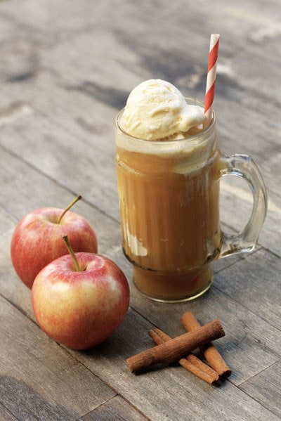 Spiked Apple Cider Floats