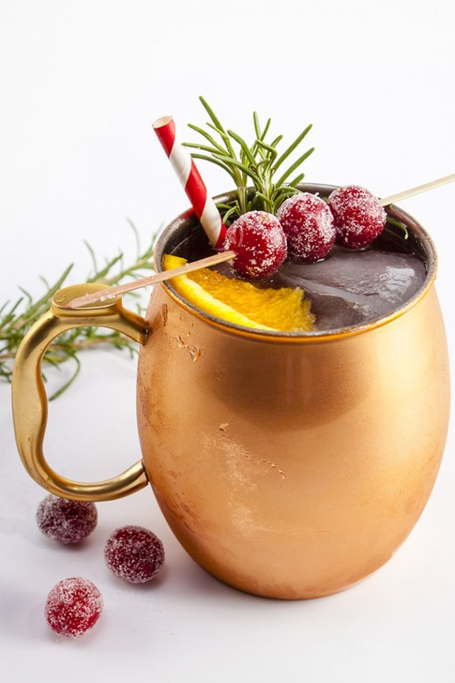 Holiday Mule Cocktail