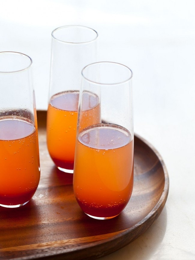 Spiced Blood Orange Champagne Punch Holiday Cocktail