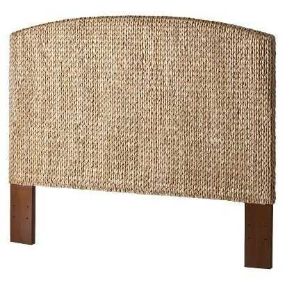 This lovely wicker headboard comes in this light honey color as well as a deep espresso color! It's a gorgeous addition to any beachy decor.