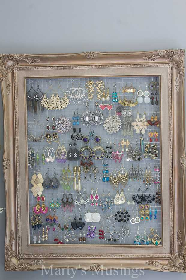 Chicken Wire Frame for Earrings by Marty's Musings