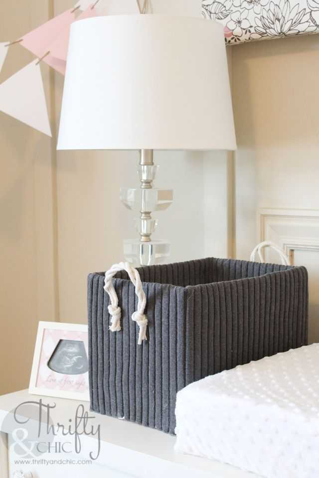 Fabric Storage Boxes from Old Boxes by Thrifty and Chic