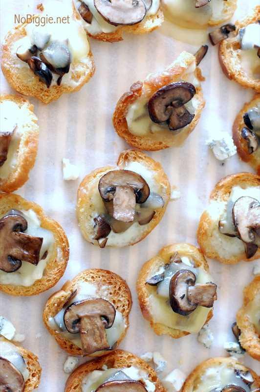 Blue Cheese Mushroom Crostini, 25 Best Appetizers to Serve