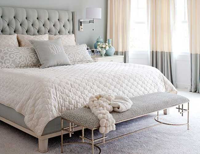 Neutral & serene master bedroom ideas to recreate with shopping sources via ablissfulnest.com