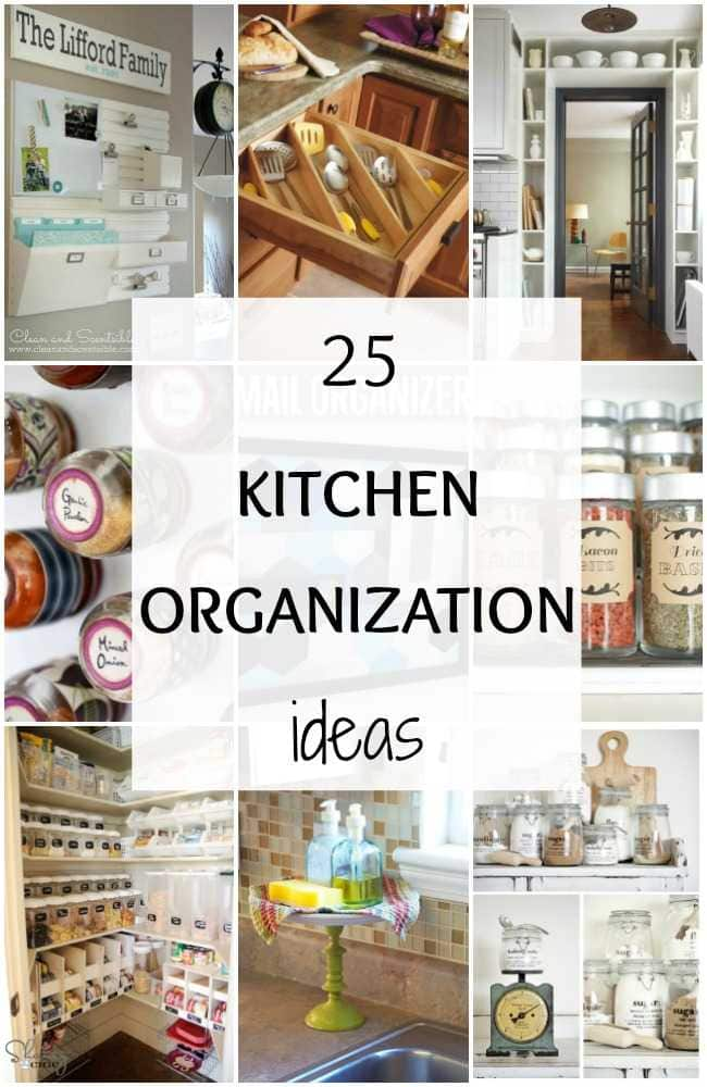 25 Kitchen Organization Ideas + Hacks you didn't know you needed. Get these tips to have the most function and organized kitchen. Such great kitchen ideas! ablissfulnest.com