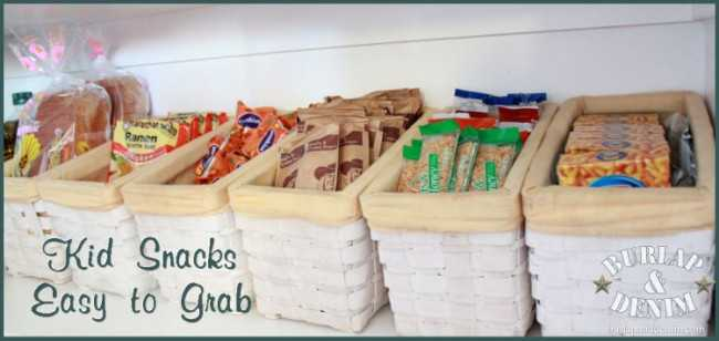 Grab and Go Snack Station, 25 Kitchen Organization Ideas