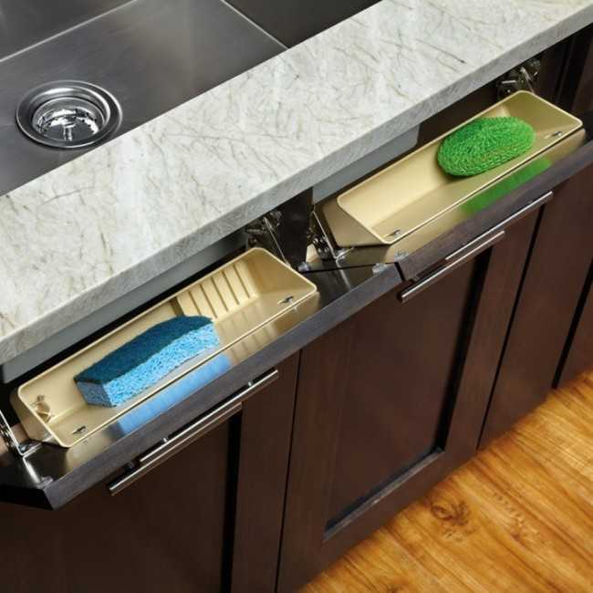 Sink Front Tip Out Tray, 25 Kitchen Organization Ideas