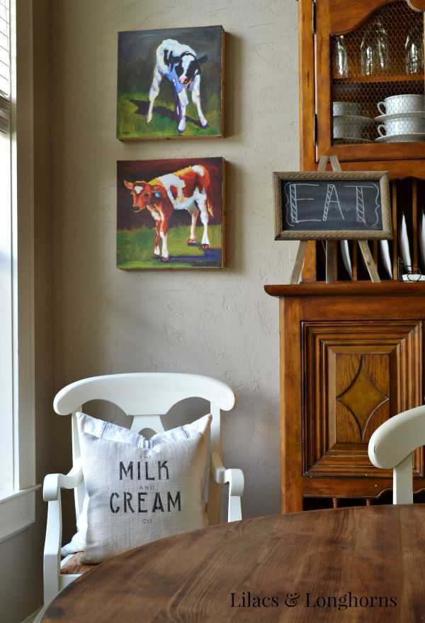 DIY Stenciled Grain Sack Pillows by Lilacs and Longhorns, 20 DIY Farmhouse Projects