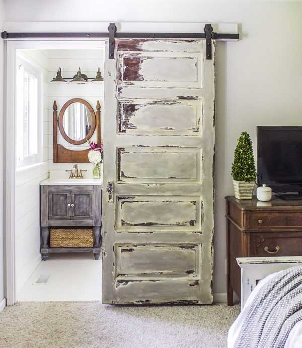 Install a Barn Door by Shades of Blue Interiors, 20 DIY Farmhouse Projects