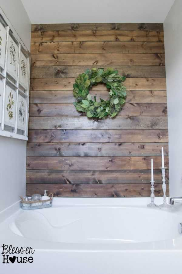 Install a Plank Wood Wall by Bless'er House, 20 DIY Farmhouse Projects