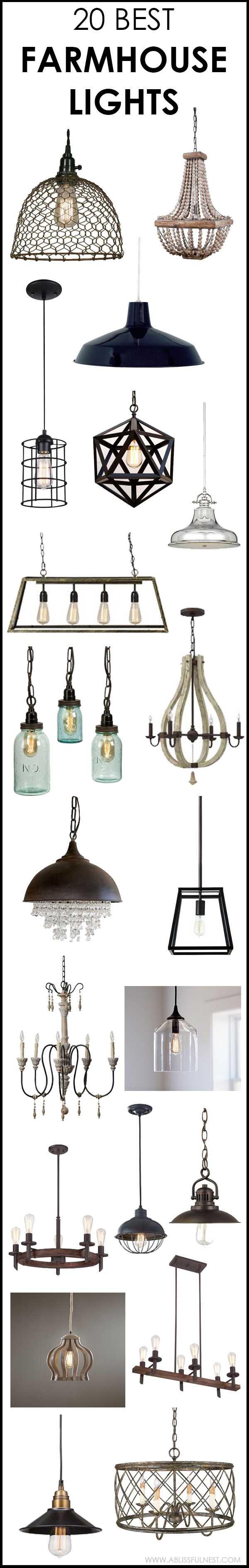 farmhouse lights 20 amazing styles to
