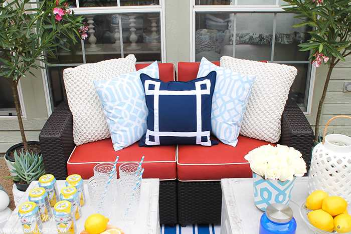decorate a small patio with designer flare