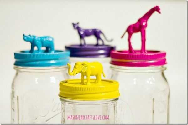 Animal Topped Mason Jars, 20 Ways to Use Mason Jars