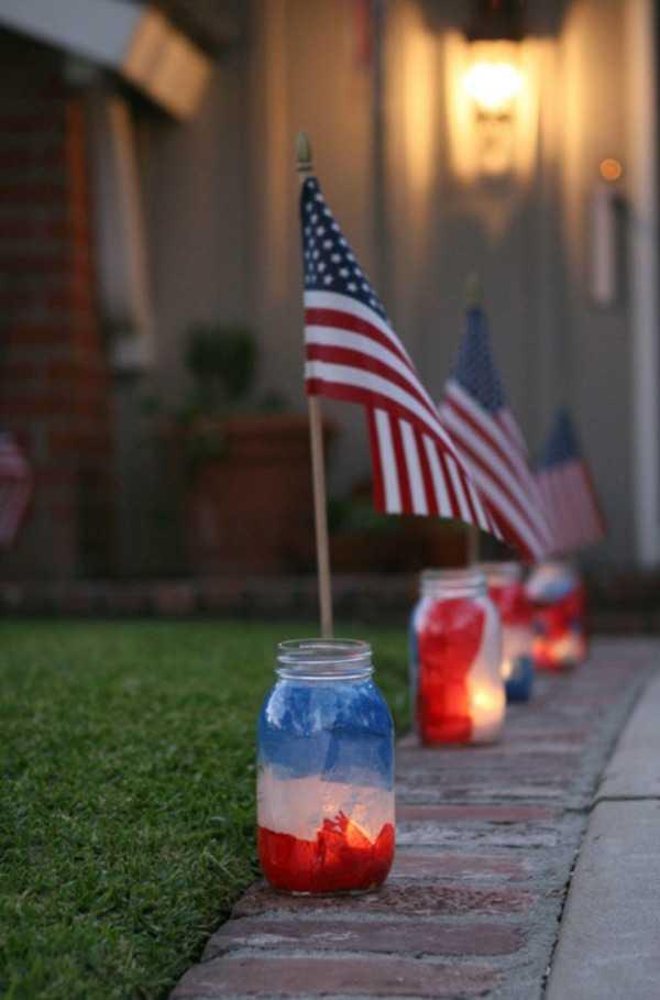 Patriotic Luminaries, 20 Ways to Use Mason Jars
