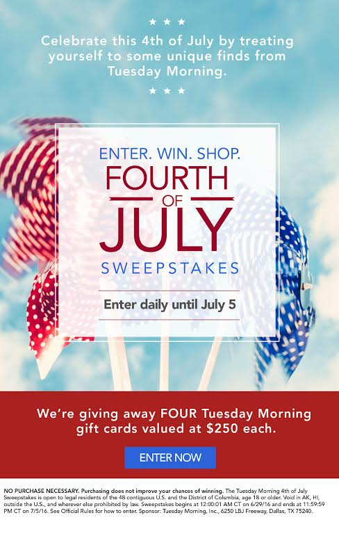 Tuesday Morning Sweepstakes