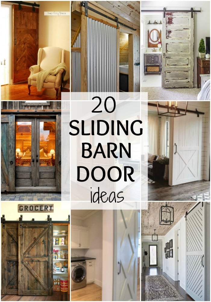 These are such amazing sliding barn door ideas! See more on https://ablissfulnest.com/ #bardoor #farmhouse #fixerupper