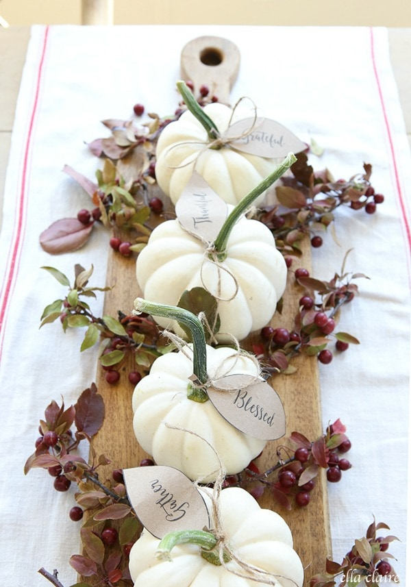 Ella Claire Inspired Pumpkin Leaves, 30 Free Fall Printables