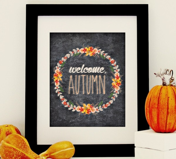 I should be mopping the floor Welcome Autumn Chalkboard Print, 30 Free Fall Printables