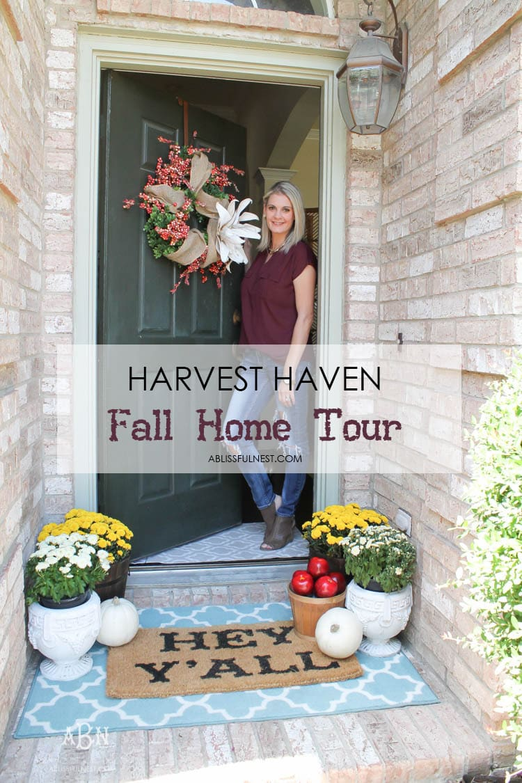 Fall Home Tour For Haven Harvest Fall Tour By A Blissful Nest