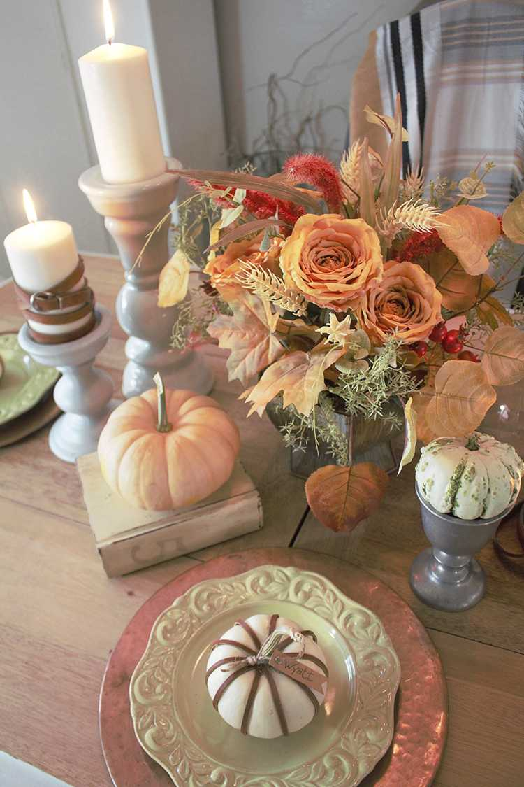 Simple DIY Leather Wrapped Pumpkins A Blissful Nest