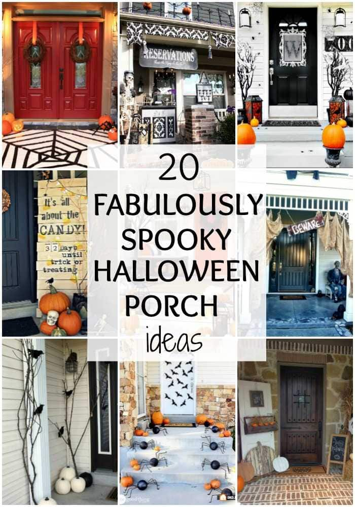 Just LOVE all these Halloween front porch ideas! From traditional to unexpected pops of decor, there is a little something for everyone here! See more on https://ablissfulnest.com/ #halloweenporch #halloweendecor