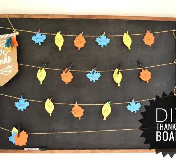 Simple DIY Thankful Board