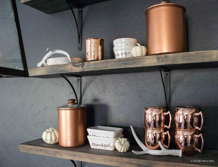 Skip the expensive price tag on authentic copper and create a set of DIY painted copper canisters for a fraction of the cost! See all the details at http://www.ablissfulnest.com/ #Copper #UpcycledProjects #CopperDecor
