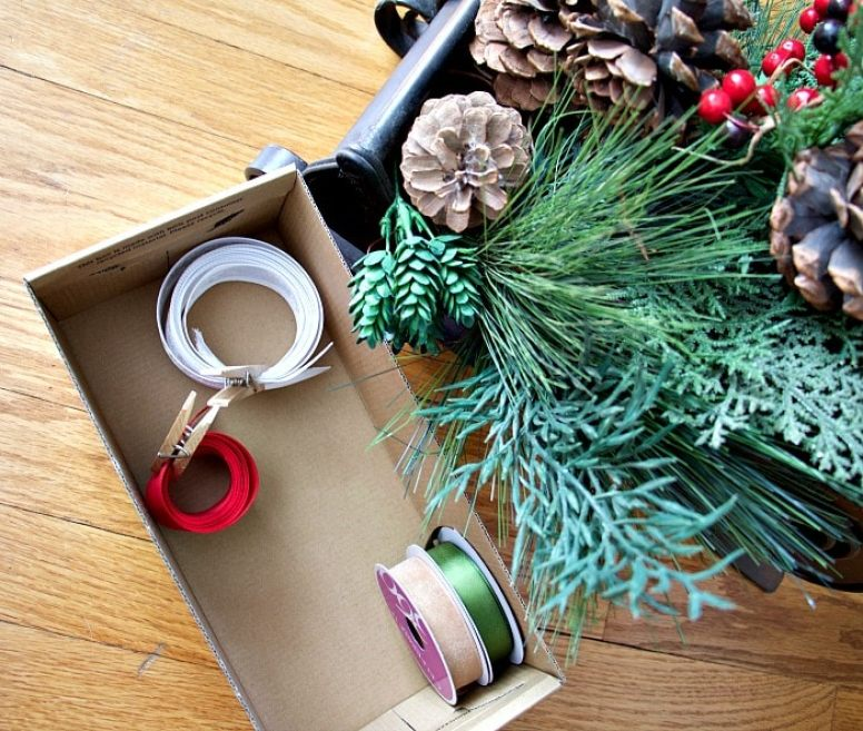 These are the best Christmas organizing tips around. By doing these simple things, you will be able to easily store your Christmas decor for next year! See more at https://ablissfulnest.com/ #Christmas #Organizing #ChristmasTips