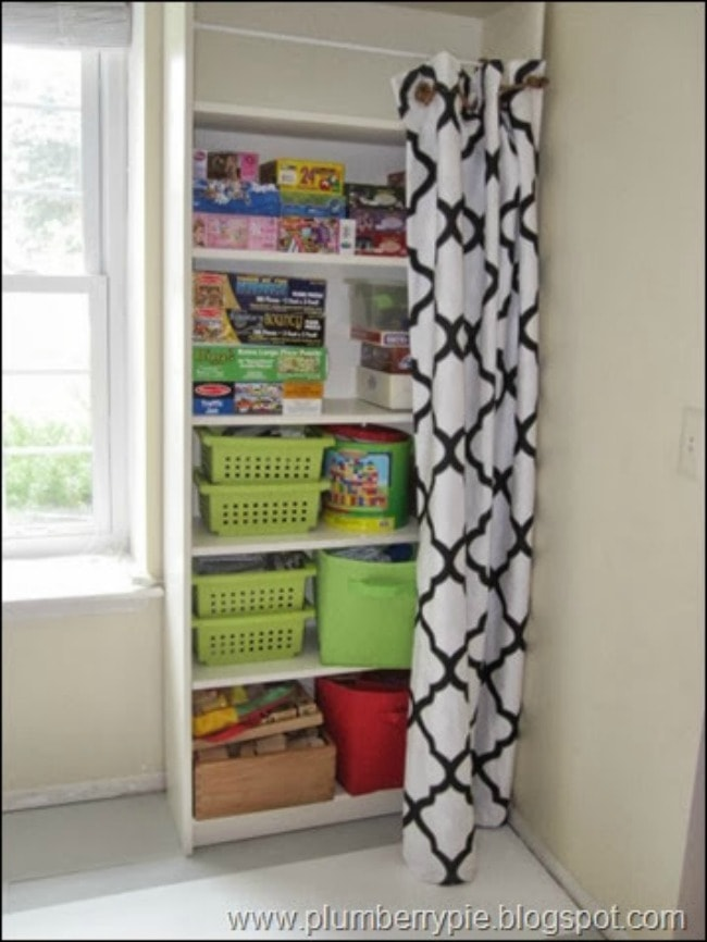 Plumberry Pie, Playroom Organization Ideas via A Blissful Nest
