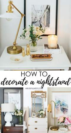 How to Style Your Nightstand  What every nightstand should have Easy tips on how to style your nightstand and create a warm vignette in any  bedroom