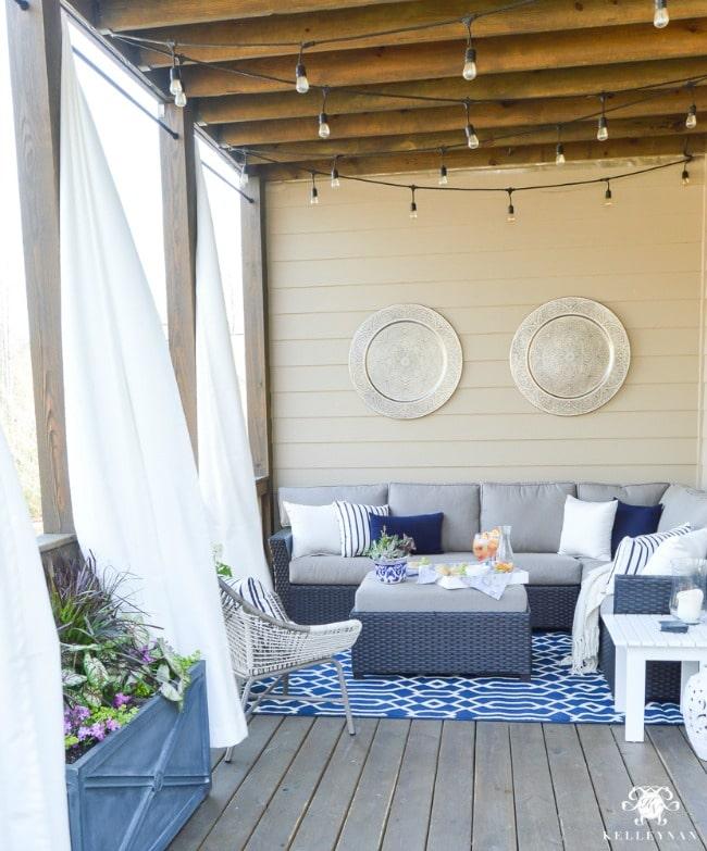 Gorgeous porch by Kelley Nan.