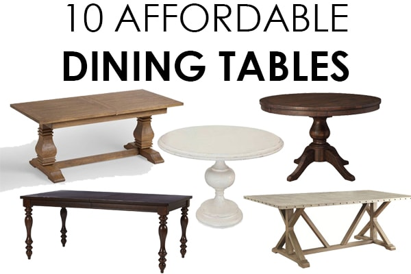THE most gorgeous + affordable dining tables!