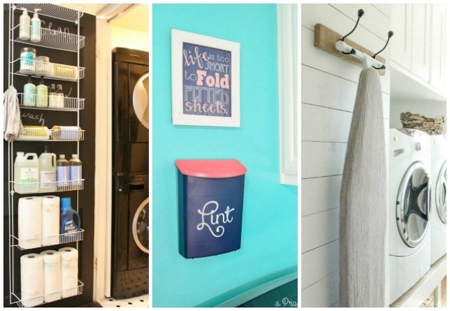 20 ideas to get your laundry room organized!