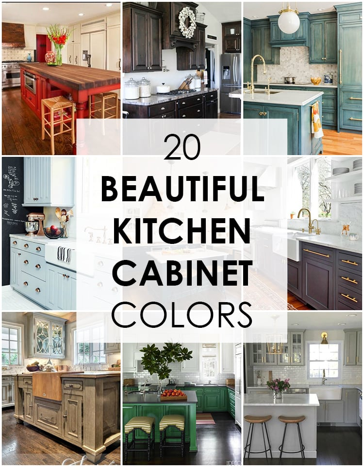 These are the best kitchen cabinet colors to choose from! Love all the variations to  sc 1 st  A Blissful Nest & 20 Beautiful Kitchen Cabinet Colors - A Blissful Nest