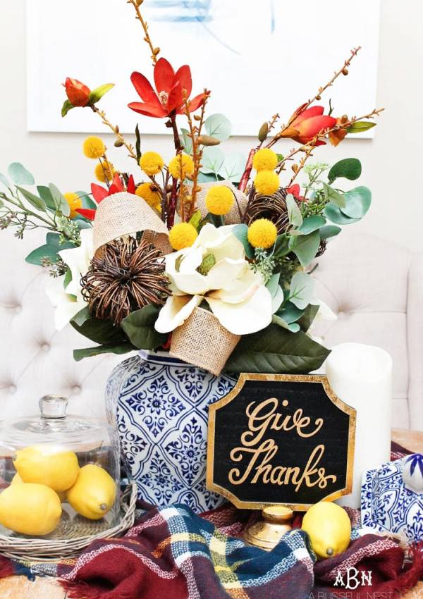 Simple DIY Fall Centerpiece Idea