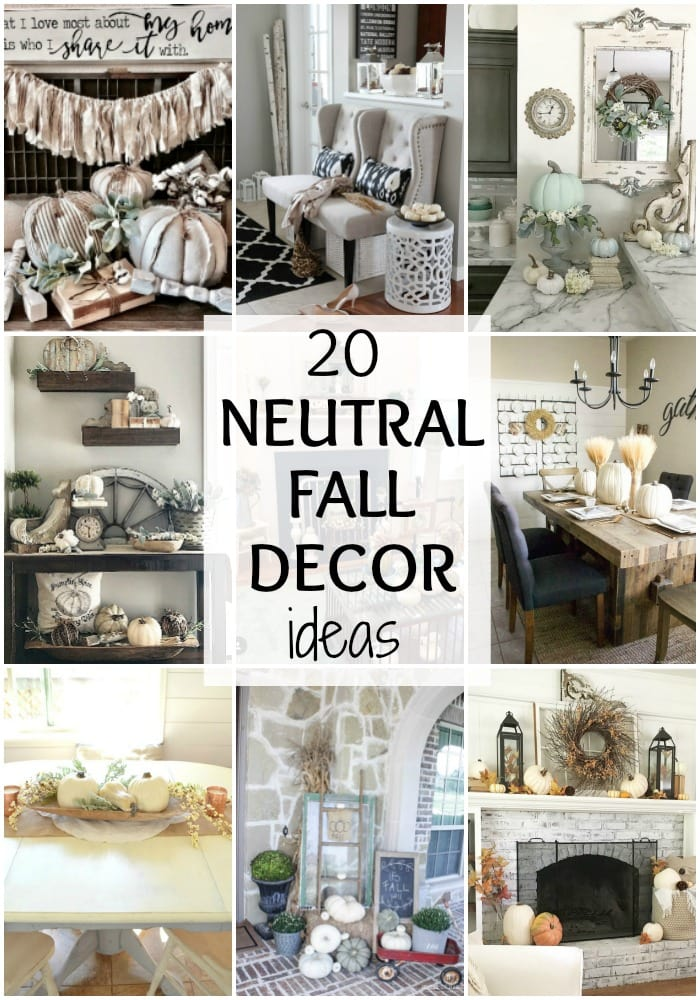 Wondrous Gorgeous Neutral Fall Decor Ideas A Blissful Nest Home Remodeling Inspirations Genioncuboardxyz