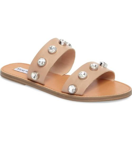 Love the rhinestones on these cute summer sandals!