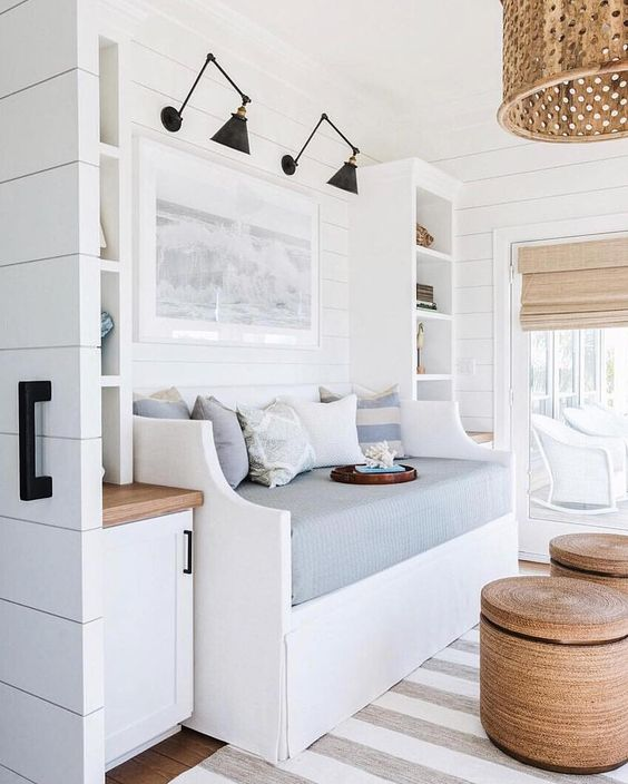 I love the colors and serene feeling of this space!