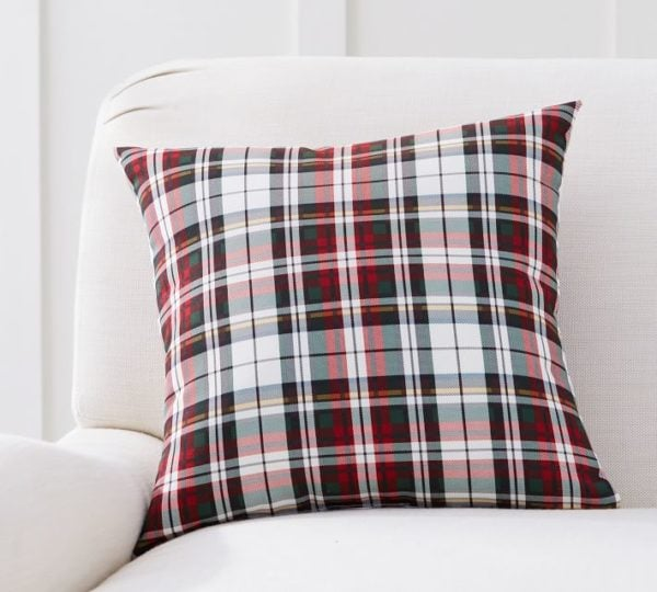 The best Christmas plaid pillow!