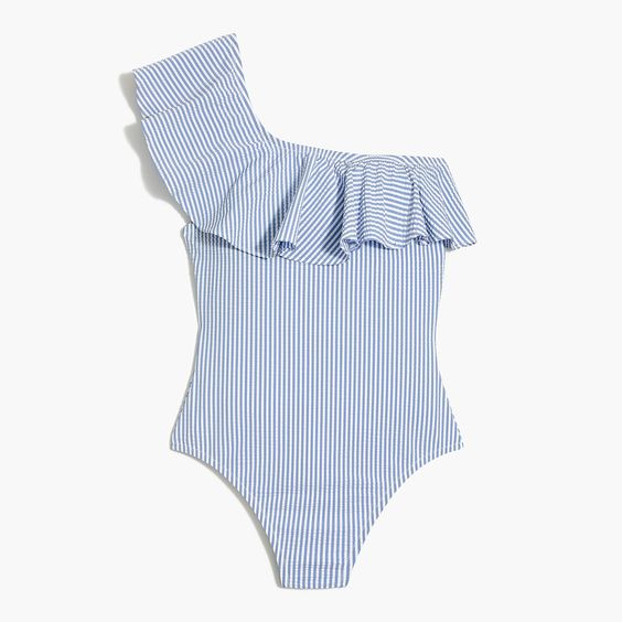 The prettiest blue and white swimsuit for the season!